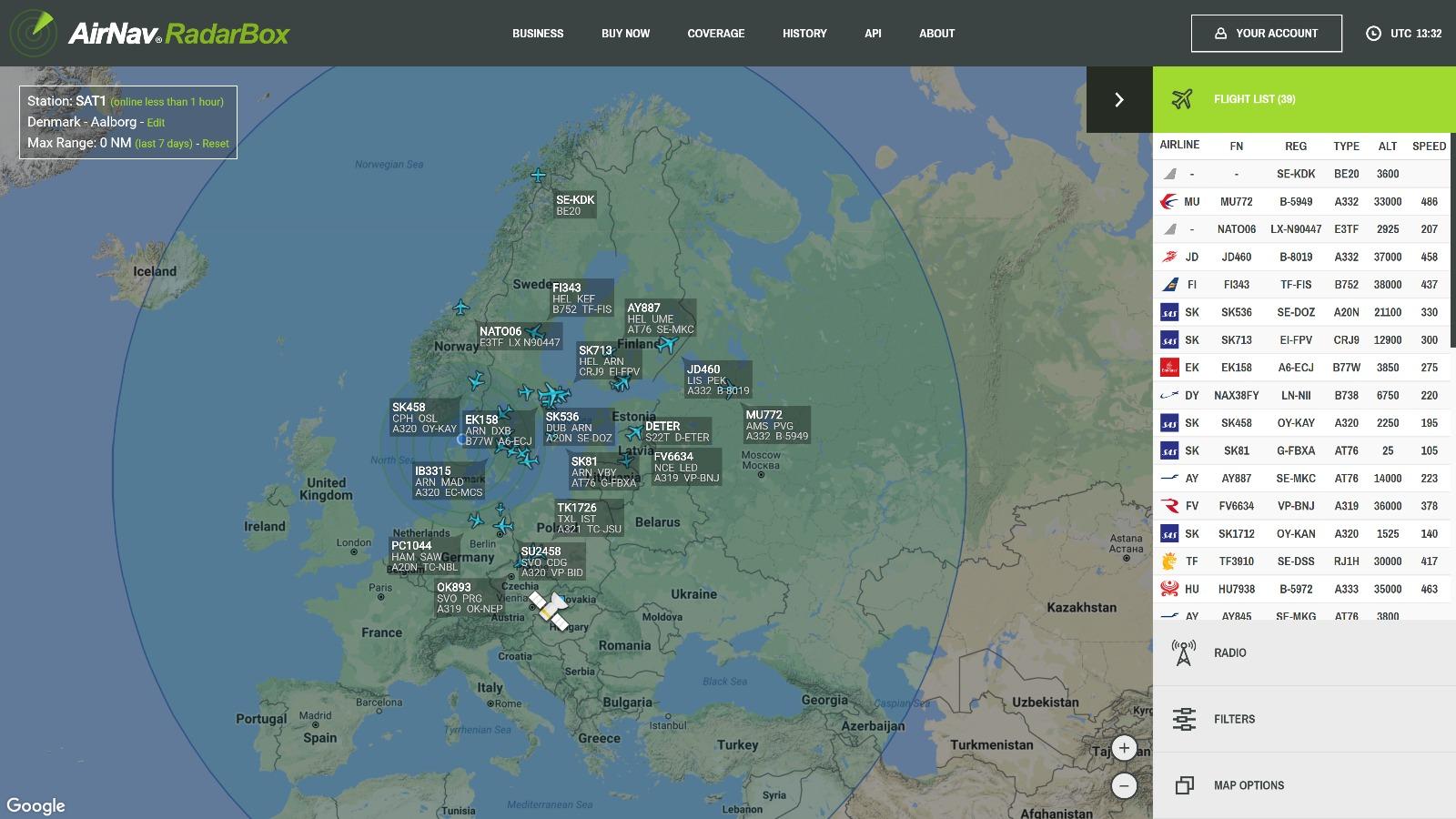 Space Based ADS-B - AirNav RadarBox - Live Flight Tracker