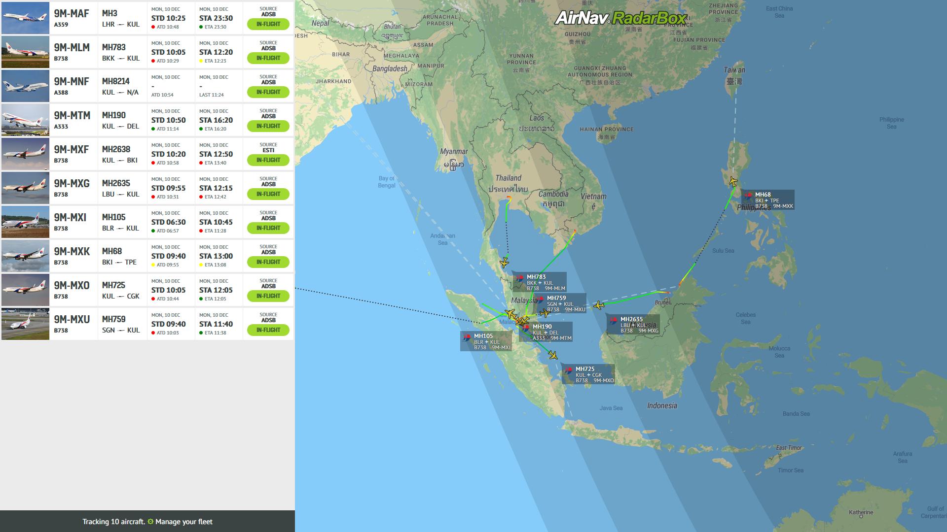 Fleet Tracker - AirNav RadarBox - Live Flight Tracker and